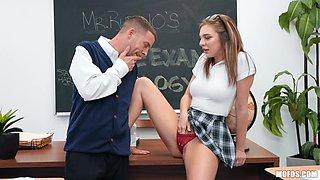 slutty schoolgirl sucks her teacher's dick