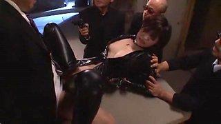 Amazing Japanese whore Azusa Itagaki in Crazy Latex, Gangbang JAV clip