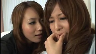 Delicious Japanese babes in orgasmic lez group fun