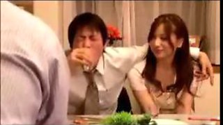 Sexy Japanese wife gets fucked by her husbands guest