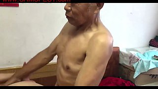 muted chinese old man fucking grandma film