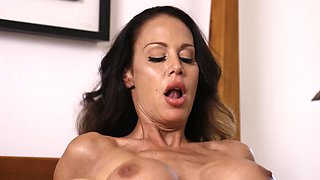 Missionary and doggystyle fucking with fake tits MILF McKenzie Lee