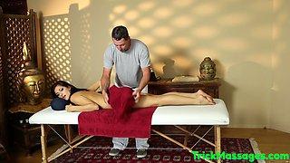 Cute massage beauty deepthroats on her knees