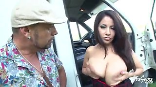 Hot French latina milf gets her ass fucked hard