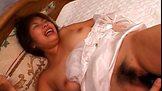 Big titted asian gets pussy vibrated hard