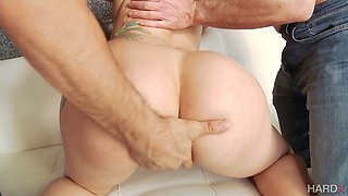 Amazing brunette with sexy ass Mandy Muse takes rough double penetration