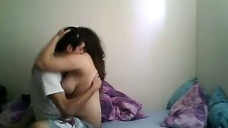 Pumping my Turkish busty girlfriend in her bedroom