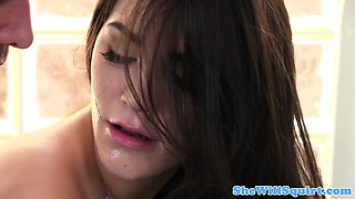 Squirting Holly Michaels drilled in gym