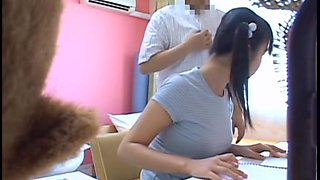 Intense video of mesmerizing oriental broad getting taped with spy cam