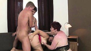 Three matures sharing a stud
