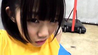 Aya Miyazaki Jav Idol Fucked In The Gym Changing Room