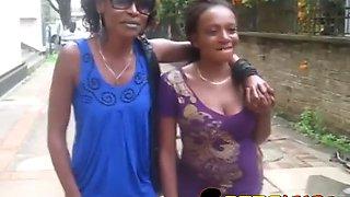 amateur african lesbians tanya and kenya having sex in bedroom
