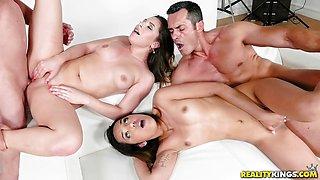 Foursome with kinky Ally Jones and Esperanza