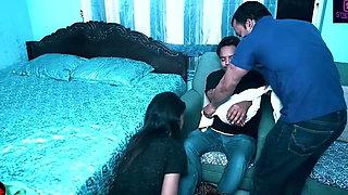 Husband Ke Samne Dost Ko Choda Bhabhi Ne With Hindi Audio
