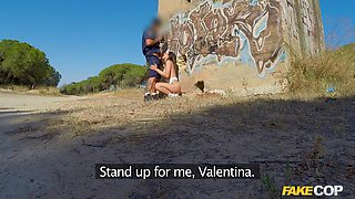 Valentina in Italian Takes Cop's Cock in Her Arse - FakeCop