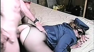Kinky wife in uniform gets her snatch licked and drilled