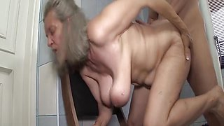 Busty 83 years old gran rough fucked