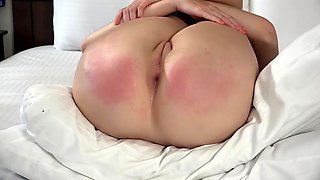 Hot Oiled Belt Whipping Ashley Lane Spread For The Belt Apr 26 19.mp4