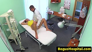 Euro patient licked out by horny doctor