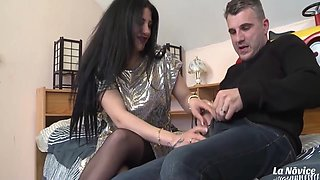 Isabella & Sebastian Barrio) Milf Brunette Rides Lover At His Place