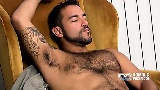 Hairy and handsome Nicko strips down and gets to work on