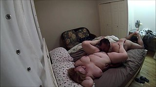 Chubby amateur wife gets her snatch devoured on hidden cam