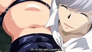 Crazy drama, campus anime clip with uncensored bondage,