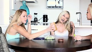 Two hot sexy sisters Elsa and Hollie shares their dads one