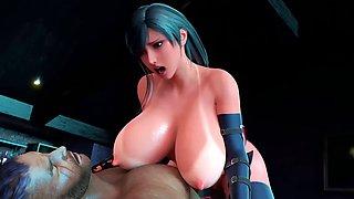 3D anime FF huge boobs
