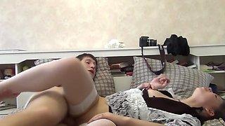 Teen schoolgirls gets her vagina and ass penetrated after shower
