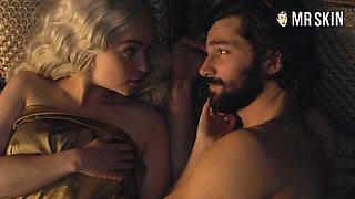 Erotic bed scene featuring Emilia Clarke aka Daenerys Targaryen