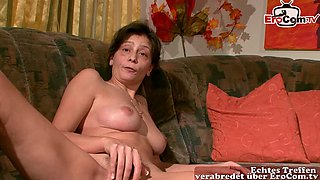 ugly mom masturbate first time at camera for money