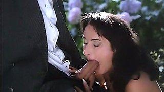 Beautiful Italian babe feeding on a really nice big prick