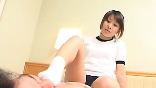 Subtitled Japaneses schoolgirl facesitting femdom