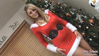 Large Mambos Santa Lexy Celebrating Christmas
