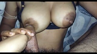 Wonderful big breasted hottie from Indian seems to be a good cock teaser