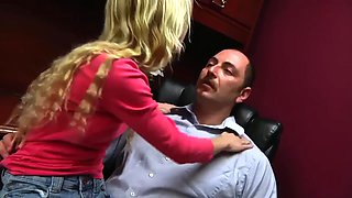 Daughter gives father special massage