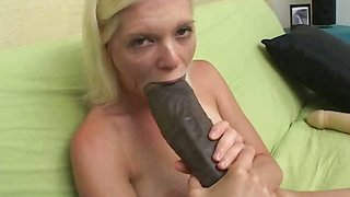 Jada stretching her pussy with two enormous brutal dildos