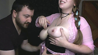 1080p Lactating Both Hubby And Her Suck Milk Out