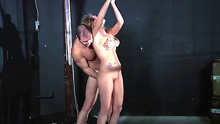 Young Blonde Kidnapped Fucked and Strangled In Dungeon By Madman