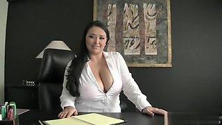 Busty Milf Suck&Fuck Her Employee in Office