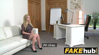 Fake Agent Hot Blonde Big Tits Russian gets a Facial.mov