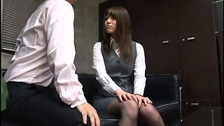 Elegant Asian chick in pantyhose engages in hardcore sex