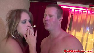Real smoking prostitute fucked by a tourist