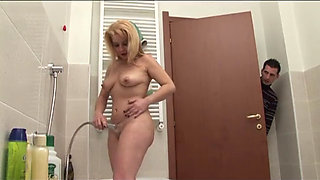Young boy spying his cute auntie in the shower part 1 - More On HDMilfCam.com