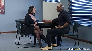 Angela White is a babe with gorgeous curves enjoying a fat black dick