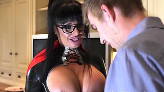 Busty british superhero housewife facialized