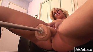 sasha knox tries a sex machine
