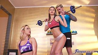 Cristal Gina - Girly Buddies Seduce Gym