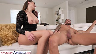 Amazing lady Ella Reese plays naughty and gets fucked doggy